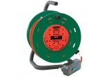 230V Four Socket Garden Cable Reel with RCD Adaptor (25M)