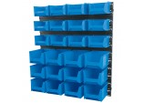 24 Bin Wall Storage Unit (Small/Medium Bins)