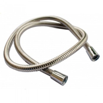 Shower Hose Large Bore - Stainless Steel - 1.75m x 1/2 x 1/2 11mm I.D.