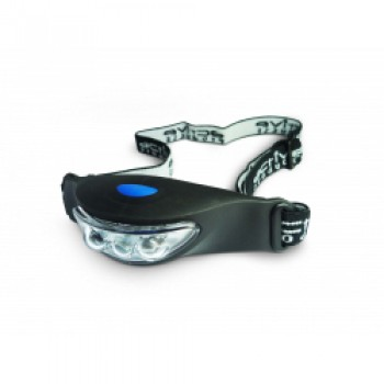 3 LED Rubber Head Torch - 2 x C2032 Batteries Included