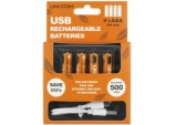 USB Rechargeable AAA Batteries - Pack 4