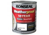 Weatherproof 10 Year Exterior Wood Paint Gloss 750ml - Pure Brilliant White