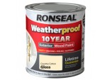 Weatherproof 10 Year Exterior Wood Paint Gloss 750ml - Country Cotton