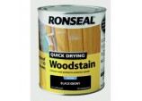 Quick Drying Woodstain Satin 750ml - Black Ebony
