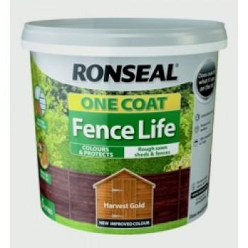 One Coat Fence Life 5L - Harvest Gold
