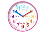 Wickford Kids Time Teach Clock 20cm - Pink