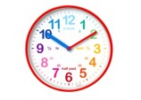Wickford Kids Time Teach Clock 20cm - Red