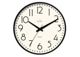 Earl Retro Wall Clock 25cm - Black