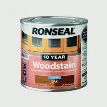 10 Year Woodstain Satin 250ml - Oak