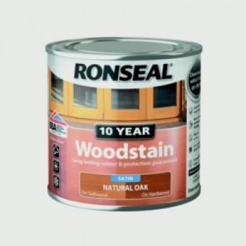 10 Year Woodstain Satin 250ml - Natural Oak