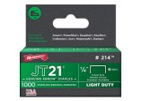 JT21/T27 Staples - 6mm 1/4in (1000)