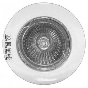 3 Pack Fixed GU10 Downlights - White