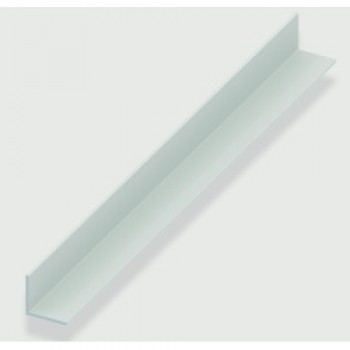 Angle Equal Sided - White Plastic - 20mm x 20mm x 1.5mm x 2m
