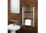 Chrome Straight Towel Rail - 500 x 800mm