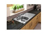 2 Tap Inset Sink - Right Hand Drainer