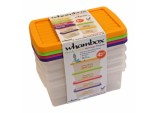 Boxes And Lids 3.5L - 2 Assorted Colours Pack 4