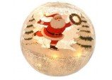 15cm Battery operated Crackle effect Santa ball