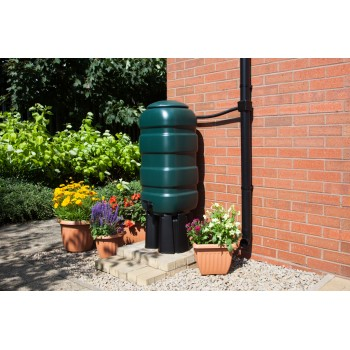 100L Slim Water Butt and Kit - Green