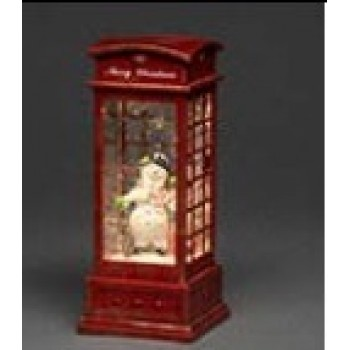 NEW Water filled Phone Box Snowman Warm White LED and Timer 5 hours