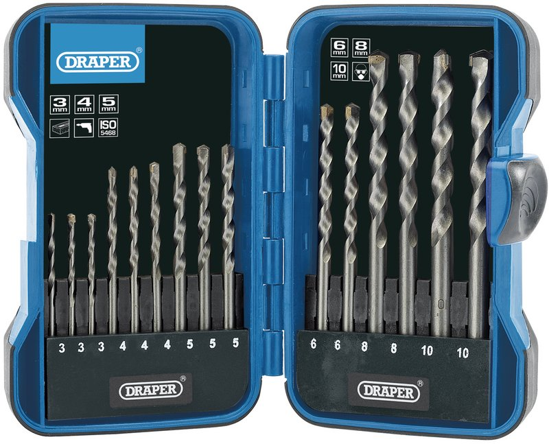 Masonry Drill Bit Set (15 Piece) – Now Only £8.42