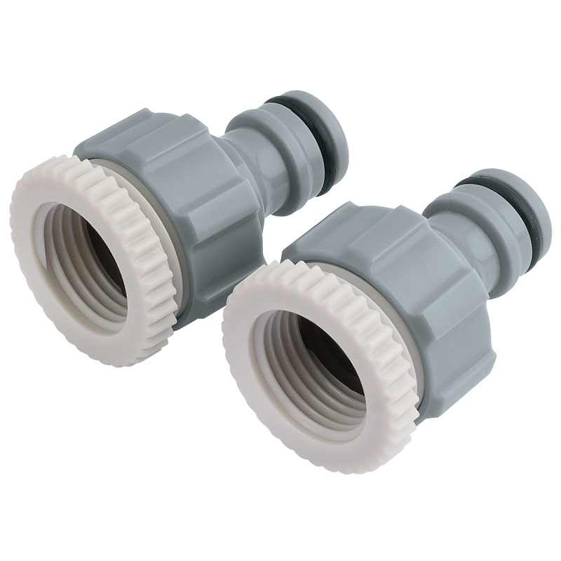 "Twin Pack of Tap Connectors (1/2"" and 3/4"") – Now Only £1.63"
