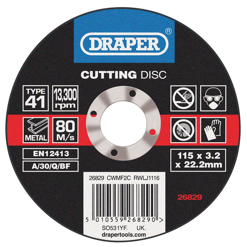 Flat Metal Cutting Discs (115 x 3 x 22.2mm) – Now Only £0.88