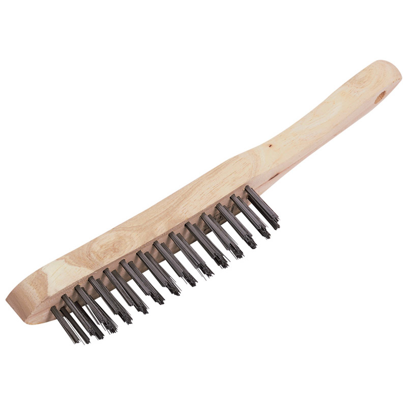 4 Row Wire Scratch Brush (290mm) – Now Only £1.88
