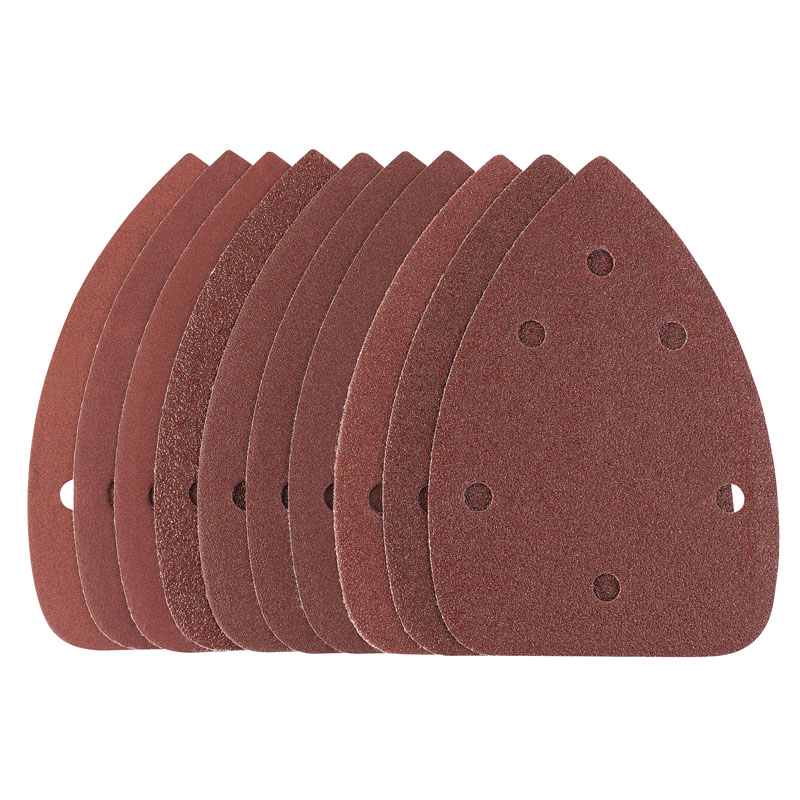 Ten 95 x 140 x 140mm Assorted Grit Hook and Loop Sander – Now Only £3.05