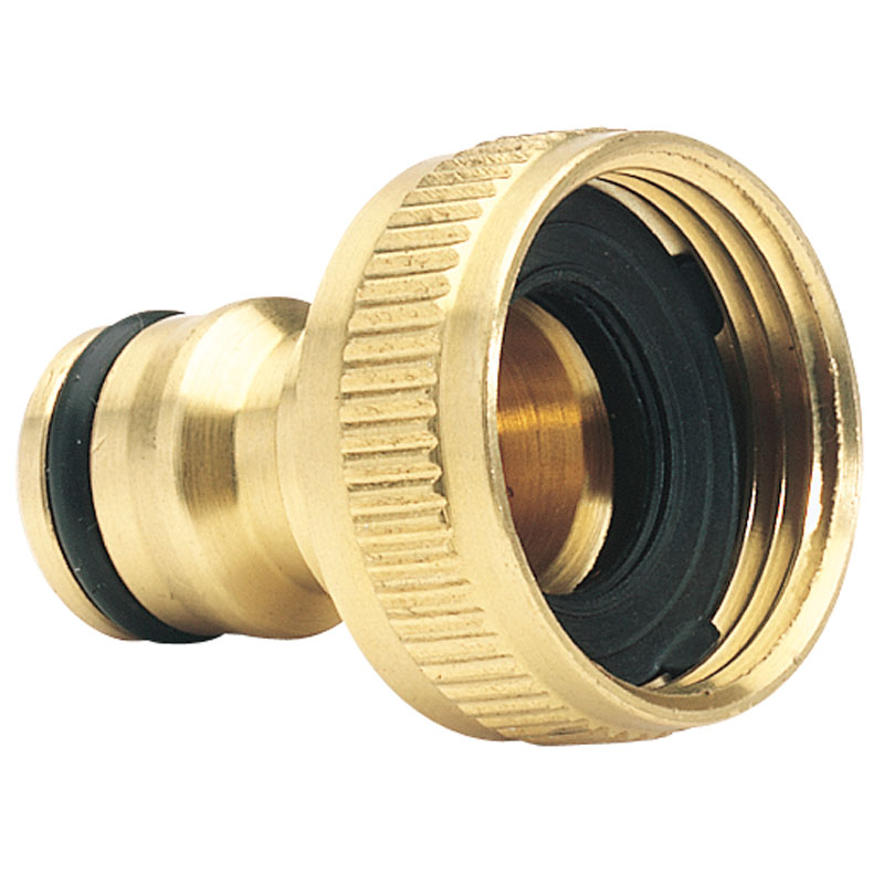"Brass Garden Hose Tap Connector (3/4"") – Now Only £1.74"