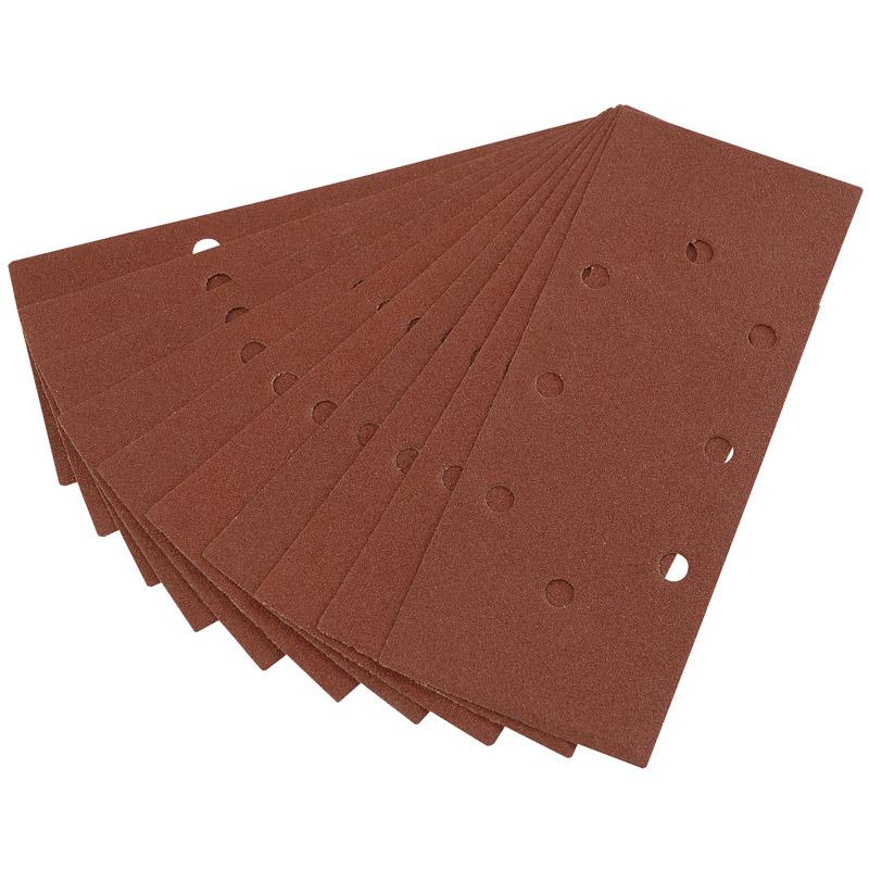 Ten 232 x 92mm 100 Grit Aluminium Oxide Sanding Sheets for 63128 Random Orbit Sander – Now Only £1.61