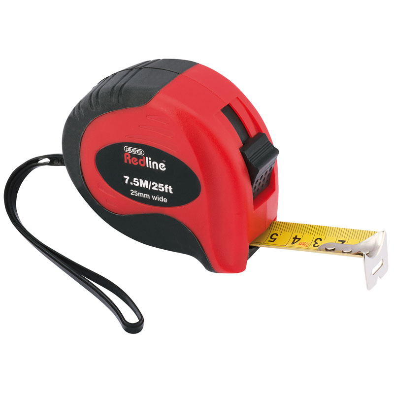7.5M/25ft Soft Grip Metric/Imperial Measuring Tape – Now Only £3.14