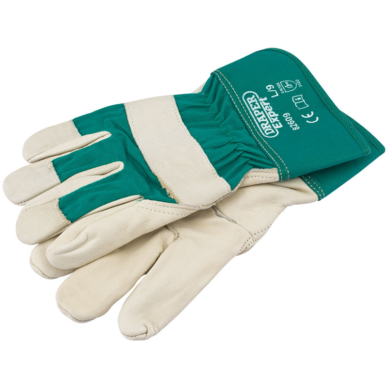 Premium Leather Gardening Gloves - L – Now Only £6.39
