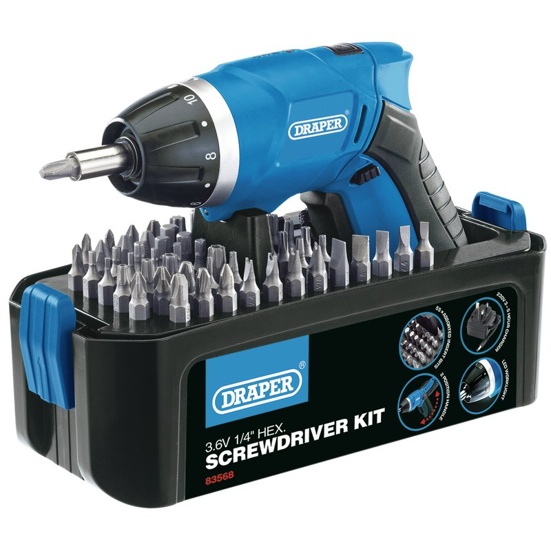 Storm Force® Cordless Li-ion Screwdriver Kit (3.6V) – Now Only £20.99