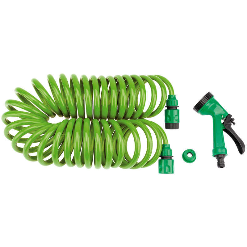 Recoil Hose with Spray Gun and Tap Connector (10M) – Now Only £10.64