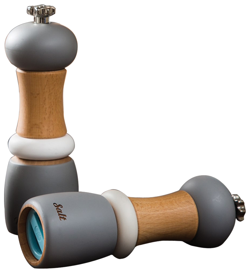 Performance Set of Light Grey Salt and Pepper Wooden Capstan – Now Only £25.00
