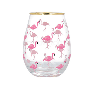 Flamingos Stemless Wine Glass – Now Only £7.00