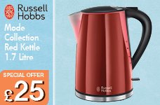 Mode Collection Red Kettle 1.7 Litre – Now Only £25.00