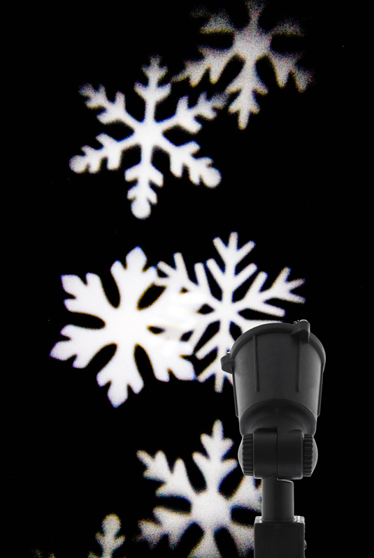 Outdoor LED projector - Snowflake design – Now Only £16.00