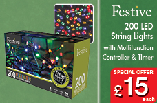 200lv LED lights with 8 multifunction controller with timer -  – Now Only £15.00
