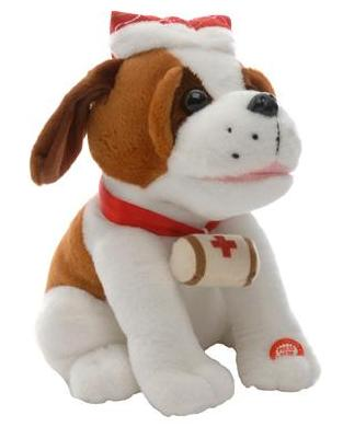 27cm Animated Xmas singing St Bernard – Now Only £14.00