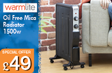 Oil Free Mica Radiator 1500w – Now Only £49.00