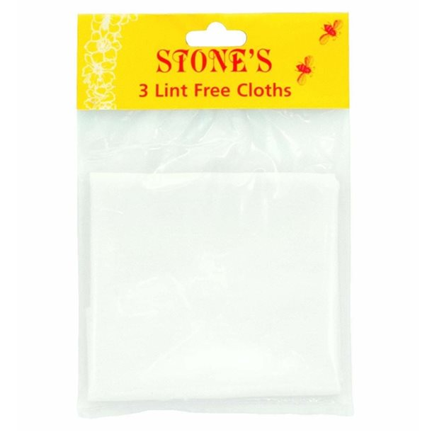 Stones Lint Free Cloths (pack of 3) – Now Only £3.00