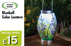 Bluebell Solar Lantern - NEW – Now Only £15.00