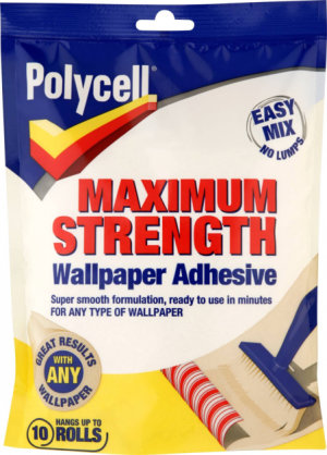 Maximum Strength Wallpaper Adhesive 10 Roll – Now Only £5.00