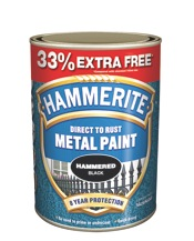 Metal Paint 750ml + 33% - Smooth Black  – Now Only £15.00