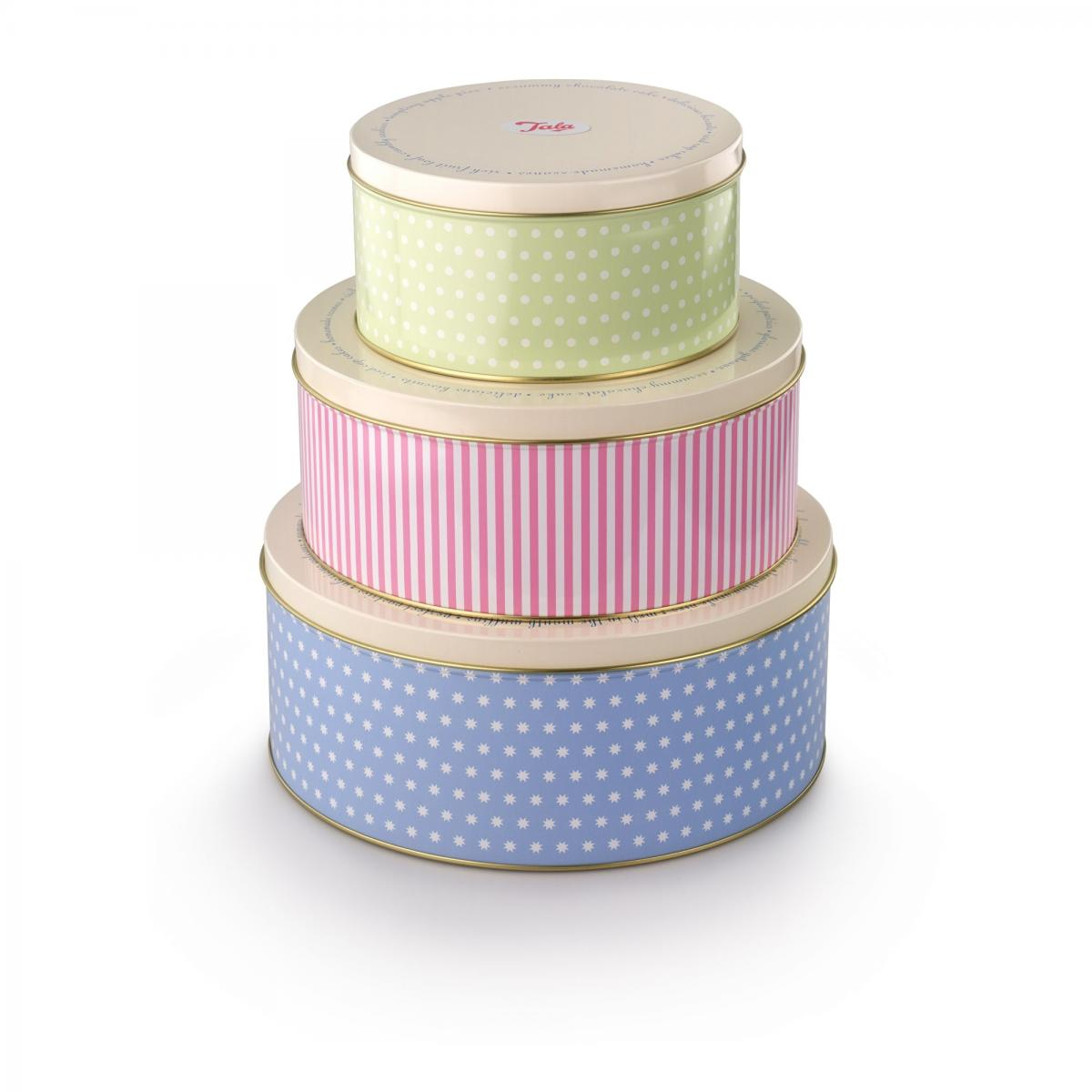 Set of 3 Simple Pattern Cake Tins – Now Only £15.00