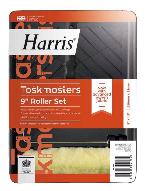 """Taskmaster medium pile roller set 9"""" x 1.5"""" diameter – Now Only £3.00"""