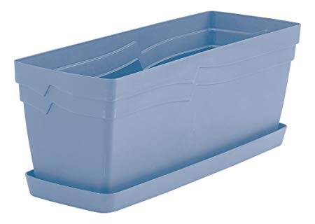49cm Boston Outdoor Window Box Planter - Powder Blue – Now Only £6.00