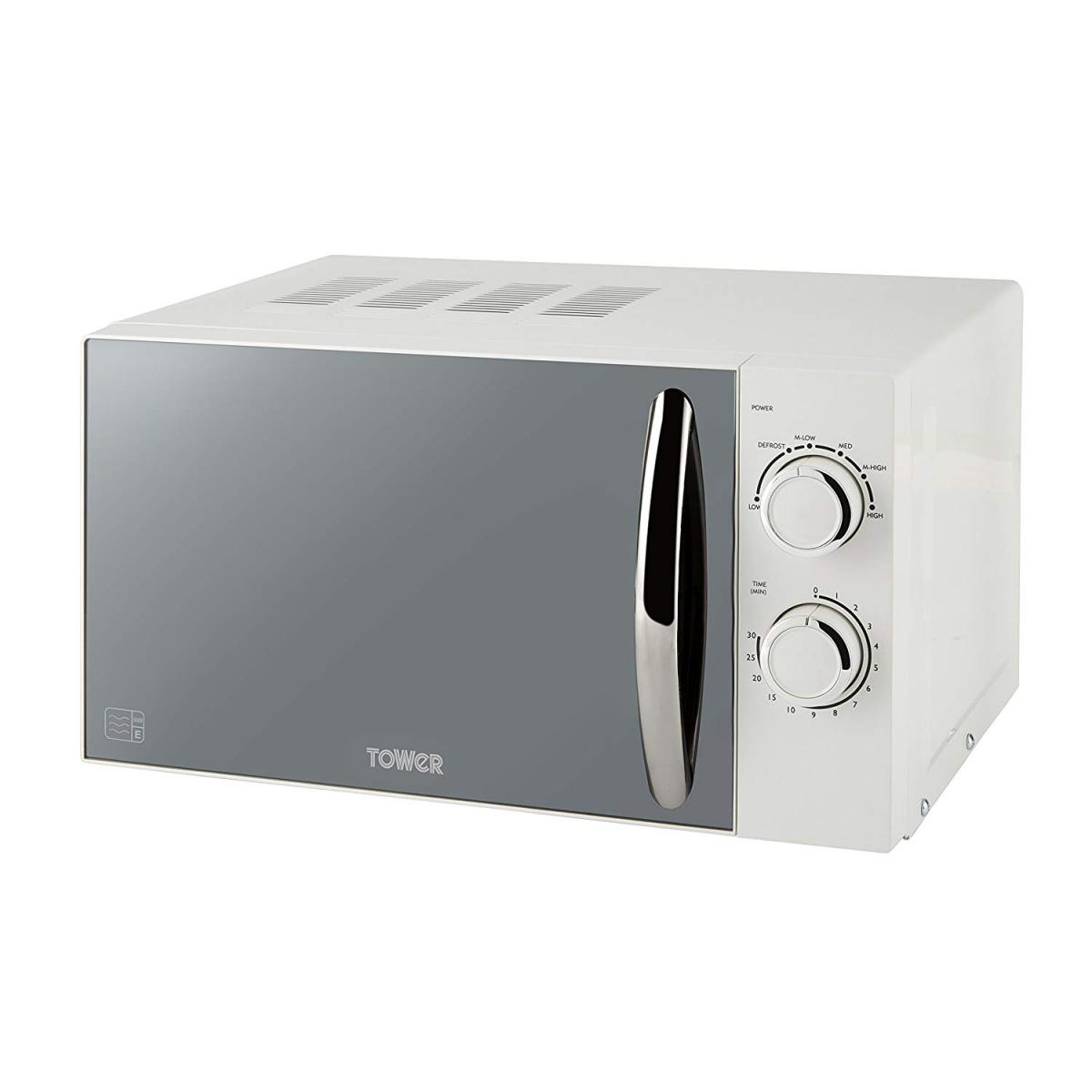800w White Microwave with Mirror Door 800w – Now Only £69.00