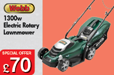 Webb Electric 33cm Rotary lawnmower – Now Only £70.00
